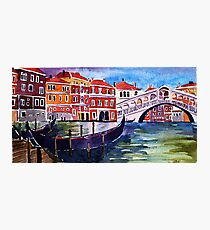 Rialto Bridge Photographic Print