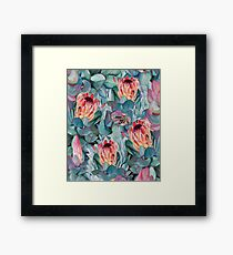 Protea flowers Framed Print