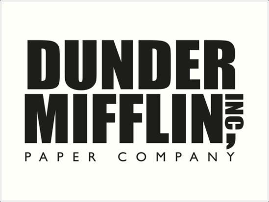 Quot Dunder Mifflin Paper Company Logo The Office Quot Art Print