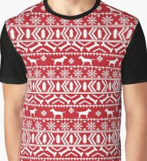 Bull Terrier fair isle christmas sweater pattern dog breed holiday winter Graphic T-Shirt