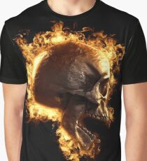 Skull in fire wallpaper T-shirt Graphic T-Shirt
