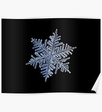 Real snowflake - 2017-02-13 4 Black Poster