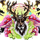 Flying reindeer juice! (Amanita Power!) by Realartworkz