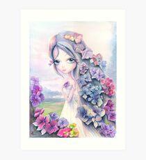 Hydrangea. Watercolor Art Print