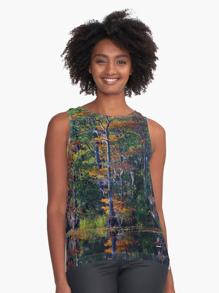 Autumn Trees Contrast Tank Front