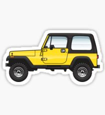 YJ Yellow Wrangler Sticker
