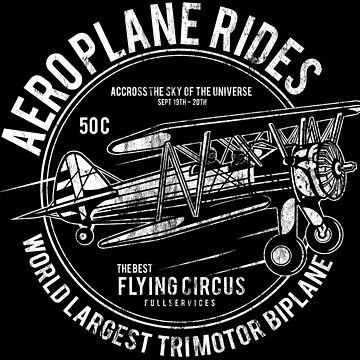 AEROPLANE RIDES - Airplane Vintage Shirt Motif by superiors-shop