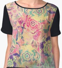 Abstract Flowers Women's Chiffon Top