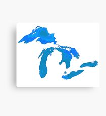 Great Lakes Water Glow Image Canvas Print