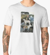 Beard Man Dogs Boat Men's Premium T-Shirt