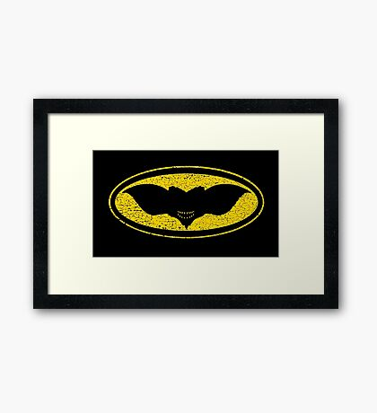 Gotham Gremlin (distressed) Framed Print