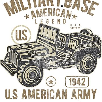 MILITARY BASE - US Army Jeep Shirt Motif by superiors-shop