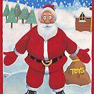 Jolly Santa with toys bag by allaballa