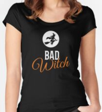 Bad Witch Halloween Women's Fitted Scoop T-Shirt