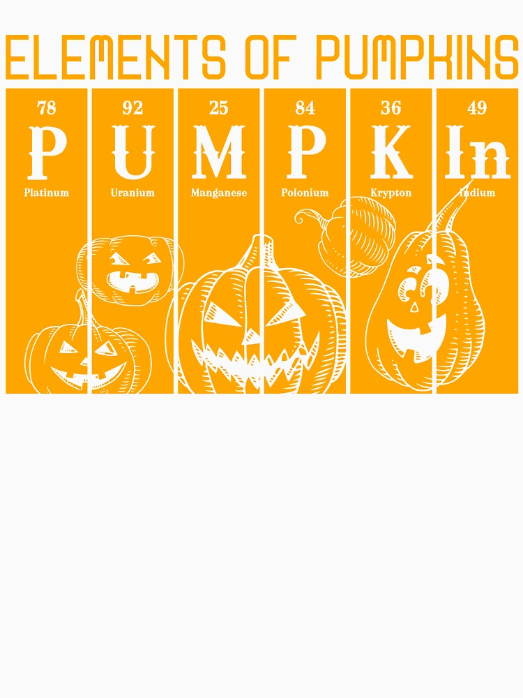 elements of pumpkins halloween Periodic table science by bestdesign4u