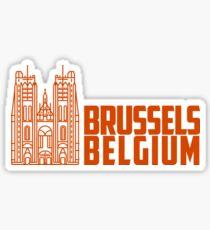 Brüssel, Belgien Sticker