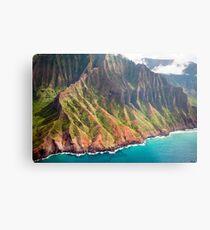 Die Na Pali Küste von Kauai Metallbild
