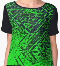 Techno Stone, Green (Texture, Background) Women's Chiffon Top