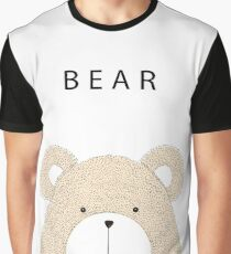Cute hand drawn bear Graphic T-Shirt