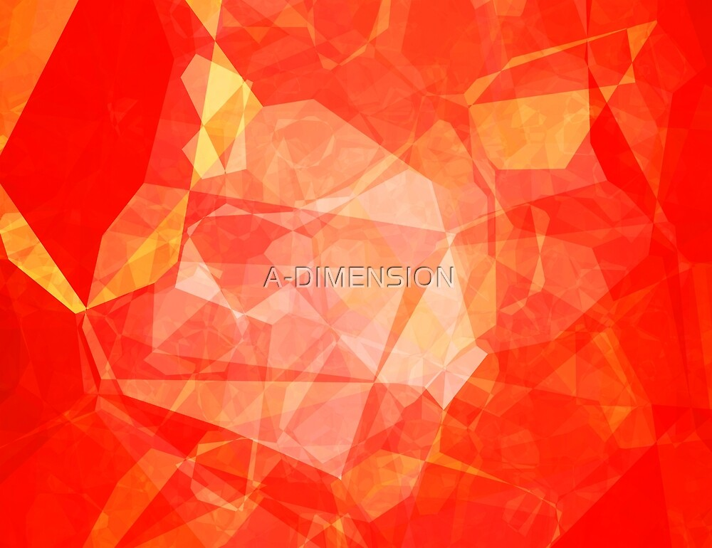 Polygons, Red (Wallpaper, Background) by A-DIMENSION