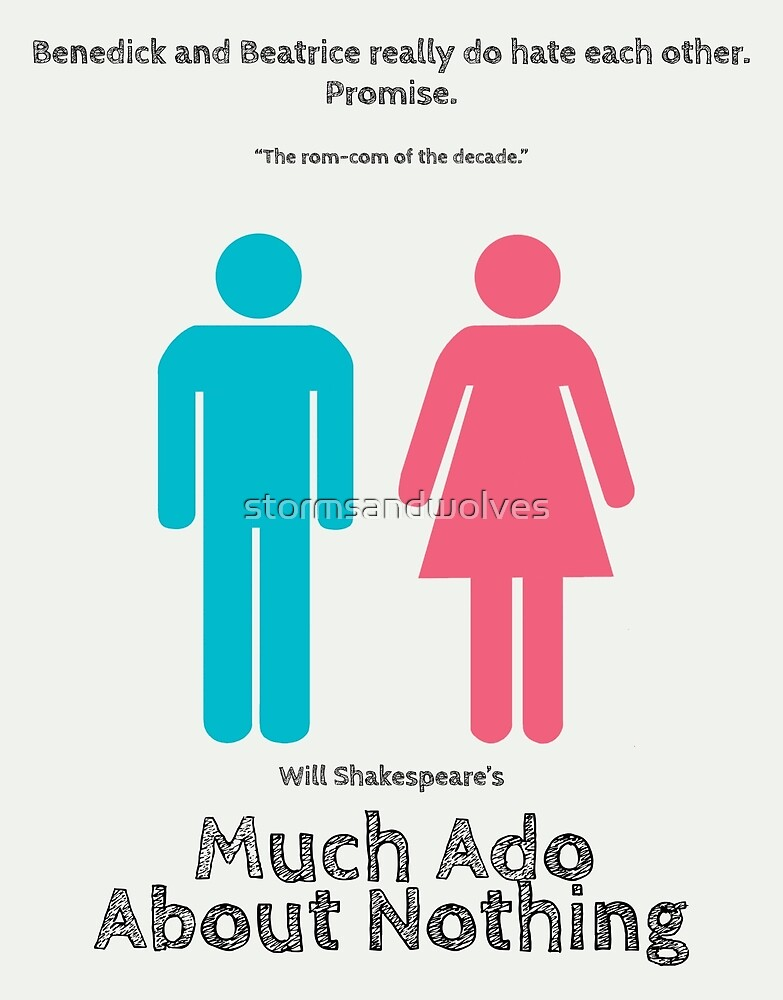 Much Ado about Nothing rom-com poster by stormsandwolves