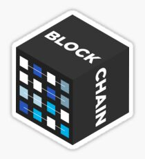 Pegatina BLOCKCHAIN ​​BLACK Square