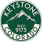 Keystone Colorado Skiing Mountains Ski Skier Snowboarding by MyHandmadeSigns