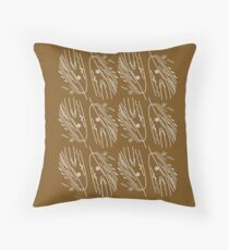 Dried herbs with white Throw Pillow