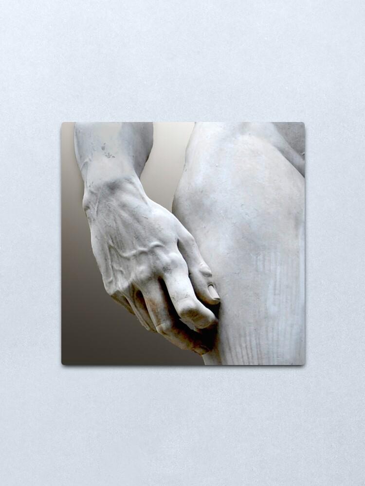 Alternate view of DAVID'S HAND MICHELANGELO DI LODOVICO BUONARROTI SIMONI Metal Print