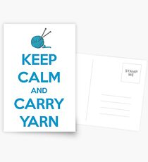 Knitting Gifts for Knitters   Keep Calm and Carry Yarn   Crochet Lovers Postcards