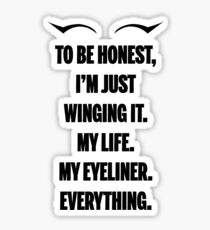 Winging It Sticker