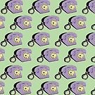 Telephone (purple & green) by wallpaperfiles