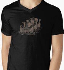 Conquest of the Viking woodcut Print ( Warm Gray) T-Shirt
