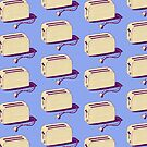 Toaster (blue & cream) by wallpaperfiles
