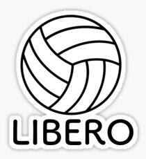Volleyball Libero Sticker