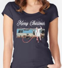 Cousin Eddie, Shitter was full Women's Fitted Scoop T-Shirt