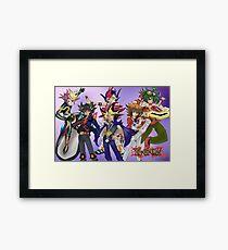 Yu-Gi-Oh! Protagonists Framed Print