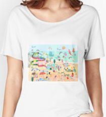 Wimmelbild Sommer am Strand Women's Relaxed Fit T-Shirt