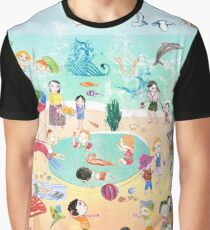 Wimmelbild Sommer am Strand Graphic T-Shirt