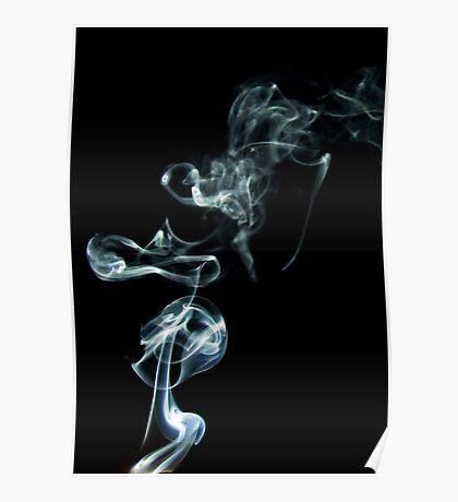 Incense smoke art Poster