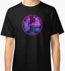Neon Cyber punk city Classic T-Shirt