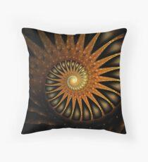 Dark Shell Throw Pillow