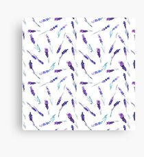 Watercolor lavender pattern Canvas Print