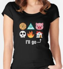 I'll Go Home Icons Women's Fitted Scoop T-Shirt