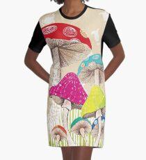 Magical Mushrooms Graphic T-Shirt Dress