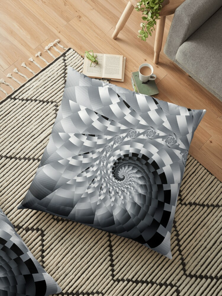 Bladed Black and White Spiral by Kelly Dietrich