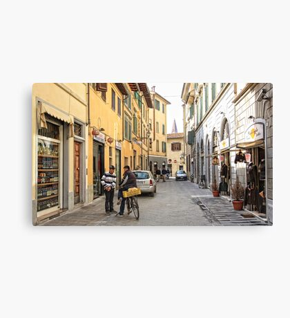 Early Morning Street Scene - Florence,  Italy  Canvas Print