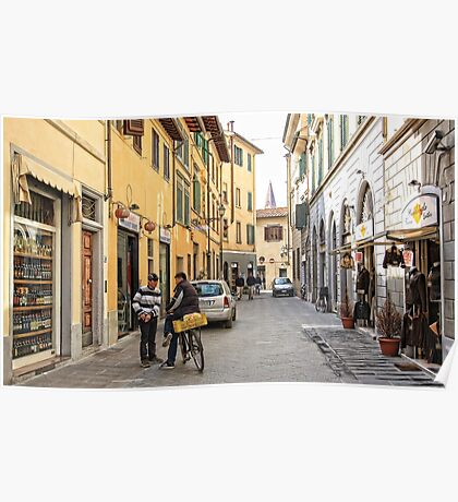 Early Morning Street Scene - Florence,  Italy  Poster