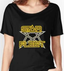 Star Fleet/ X-Bomber - Retro Children's TV Women's Relaxed Fit T-Shirt