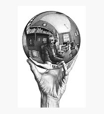 Hand with Reflecting Sphere Photographic Print